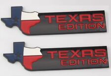 2 BLACK XL Texas Edition Emblems Badge Ford 150 250 Tailgate Universal Stick On
