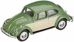 VW Coccinelle, Vert Réséda Beige / Type No. 452016800, Schuco Modèle 1:64
