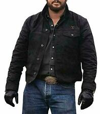 Men's Cole Hauser Yellowstone Rip Wheeler Stylish Cowboy Black Cotton Jacket