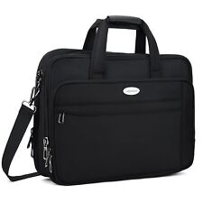 """17 Inch Laptop Bag, Expandable Large Capacity 17.3"""" Laptop Briefcasee, Nylon Mul"""