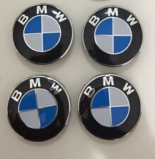 BMW 4 Tappi Coprimozzo coppette bianco e blu 68mm per cerchi in lega