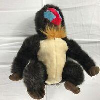 "Mandrill Plush 13"" Stuffed Chimp Monkey Ape Colorful Face Bottom Kids Cuddly Toy"