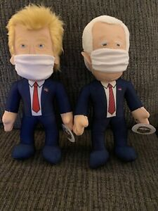 NEW President DONALD TRUMP BIDEN LIMITED EDITION COLLECTIBLE STUFFED DOLLS 12 IN