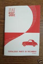 Manuale catalogo parti di ricambio FIAT 500 C TOPOLINO anni 1951 - 1952