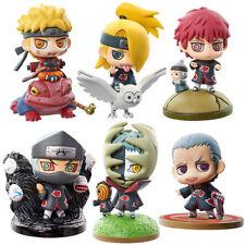 6pcs Naruto Shippuden Deidara Sasori Zetsu Kakuzu Hidan Anime Figure Figurine