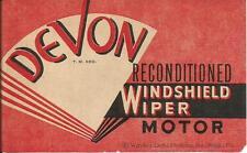Label-DEVON windshield wiper motor.original US 1940s-1960s car= ProductsOverTime
