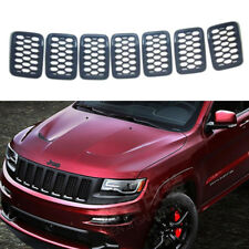 For Jeep Grand Cherokee 2017-2018 Black Front Grille Trim Insert Grill Guard ABS