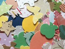 100 super mix Mixed Shapes Colours embellishment card Making Scrapbooking Crafts