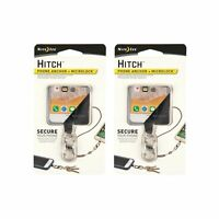 Nite Ize Hitch Phone Anchor + Microlock - Stainless Microlock S-Biner (2-Pack)