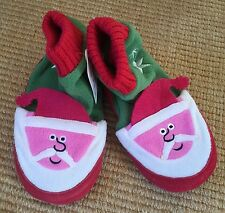 New Hanna Andersson Santa St Nick Slipper Boots Fleece Lining sz 9-10