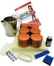 Rose gold soy wax candle making kit. Scent choice. Quality stainles steel jug