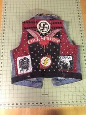 Punk Rock Battle Jacket Cock Sparrer women's vest size M
