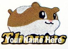 Hamster Custom Iron-on Patch With Name Personalized Free