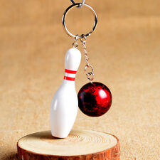 Mini bowling pin and ball keychain,bowling key ring,bowling ball key chain