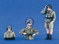 Verlinden 1/35 German DAK Afrika Korps Tank Crew (1 Full + 2 Half-figures) 2336