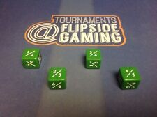 Set Of 4 Tarmogoyf  Power / Toughness Dice Mtg ~Flipside~