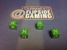 Set Of 4 Tarmogoyf  Power / Toughness Dice Mtg ~Flipside~