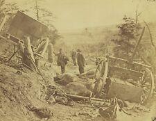 Desroyed Caisson Dead Horses General Herman Haupt New 8x10 US Civil War Photo