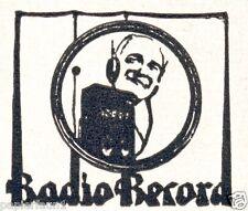 Wotan Radio Record Hannover Reklame von 1924 Elektromotoren Staubsauger Elmo Ad