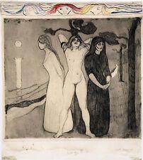 Edvard Munch Prints: The Woman II -  Fine Art Print