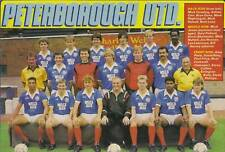 PETERBOROUGH UNITED FOOTBALL TEAM PHOTO>1987-88 SEASON