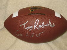 Terry Robiskie Signed Football LSU COA