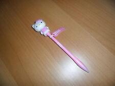 Sanrio Hello kitty pink  red & blue flashing light up black ink pen w diecut fig