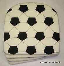 Gartenkissen/Stuhl/Kissen/Polster 4 St BW Fussball-Muster