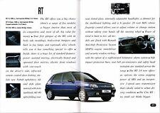 RENAULT Clio 1994-95 UK Opuscolo Vendite sul mercato 16v BACCARA RSI RT RN RL prima