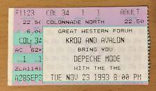 1993 DEPECHE MODE LOS ANGELES CONCERT TICKET STUB DEVOTIONAL TOUR VIOLATOR
