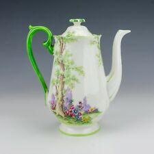 Vintage Royal Albert China - Greenwood Tree Pattern Coffee Pot - Lovely!