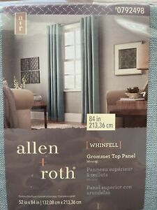 """Allen + Roth 52"""" x 84"""" Grommet Top Curtain Two Panels Whinfell 0792498 Mineral"""