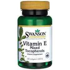 Swanson Vitamin E Mixed Tocopherols 200 Iu (134 mg) 100 Sgels