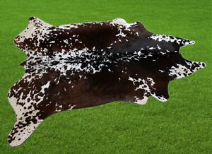 """100% New Cowhide Rugs Area Cow Skin Leather (58"""" x 63"""") Cow hide SA-7418"""