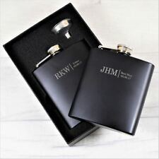 Personalised Wedding Initials Hip Flask - Engraved Best Man/Ushers/ Groom Gift