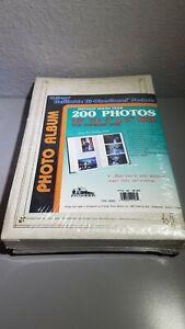 "1995 Pioneer Photo Album Holds 200+ 4""x6"" Photos White Style No BP-200 Sealed"