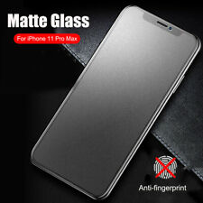 For iPhone 11 Pro Max 5D Full Cover Matte Tempered Glass Screen Protector Film