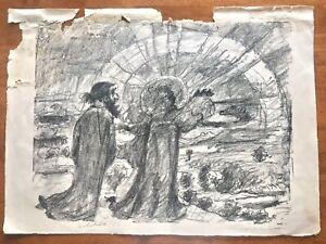 "Original 3 Signed Prints 19thC Artist Lovis Corinth 'The Magic Flute' 20 x 25"""