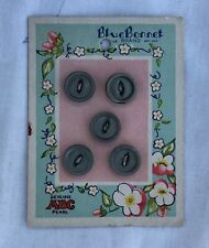 *Vintage Sewing Button Card BLUE BONNET Genuine ABC Pearl 5 Mother of Pearl