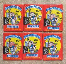 1986 Garbage Pail Kids 6th Series- 6 Different Packs- Variation Lot, TWT