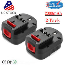 2x New For Black & Decker HPB12 FSB12 FS120B Ni-Cd Slide Battery 12V 2000mAh US
