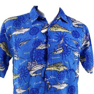 Tropic Joes Rainforest Wear Medium Costa Rica Pura Vida Sportfish Shirt