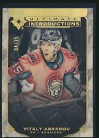 2019-20 Upper Deck Ultimate Introductions RC Onyx 04/25 UI-38 Vitaly Abramov