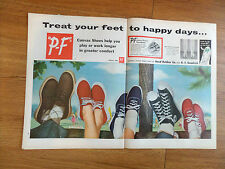 1953  P-F Canvas Shoes Ad  Treat Your Feet to Happy Days