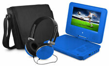 Ematic 7 inch DVD Player with Headphones and Bag - Blue