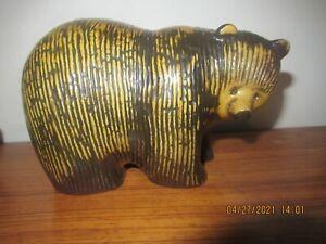 Lisa Larson Pottery Bear Gustavsberg Sweden  Skansen Nordic Zoo 1976