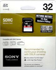 Sony 32 GB Class 10 - SDHC Card DSLR (SF-32NX/TQ3)