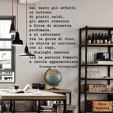 wall stickers frase frasi adesivi murali decorazione cucina arredo cibo food