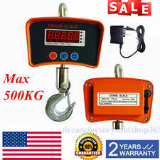 Digital Crane INDUSTRIAL 500KG 1100LBS Electronic Portable Hanging Scale USA