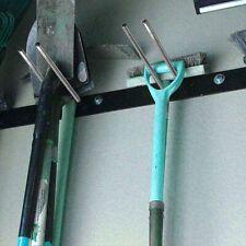 4er Gerätehalter Wand Halterung Werkzeughalter Garten Geräteleiste Skihalterung